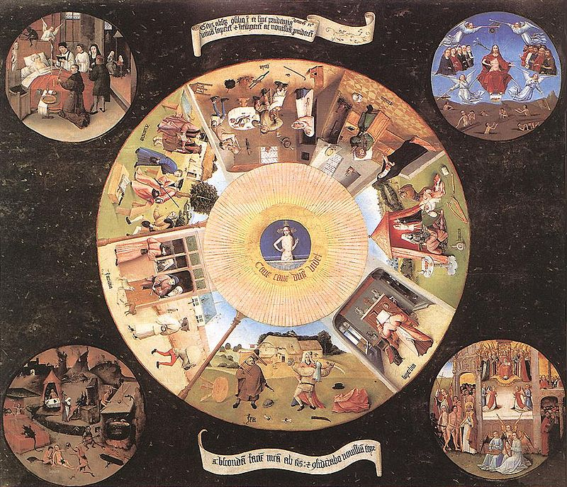_The Seven Deadly Sins and the Four Last Things_, painting by _Hieronymus Bosch_